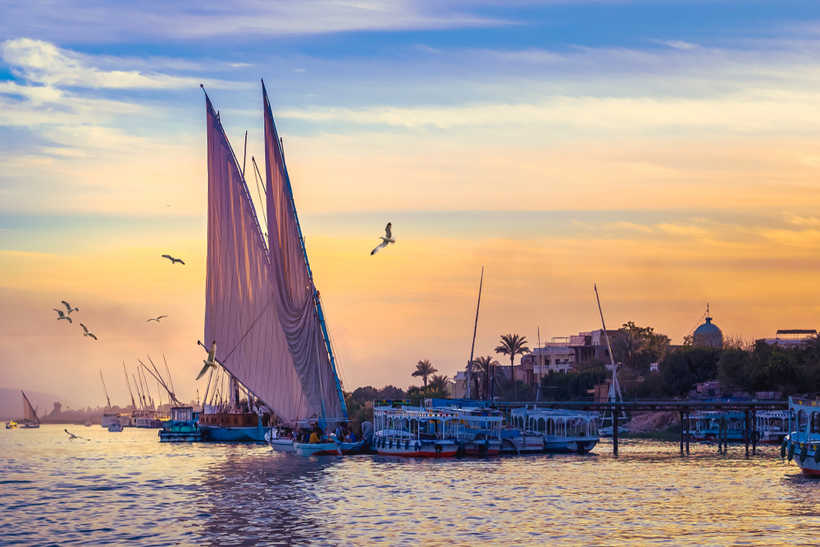 Felucca cruise in the river Nile
